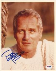 PAUL NEWMAN Signed 8 x 10 PHOTO with PSA Letter of Authenticity