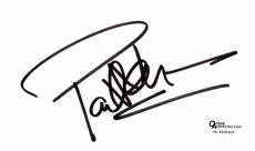 Paul Newman Signed - Autographed 3x5 inch Index Card - Online Authentics Authenticity Sticker OA, not PSA or JSA - Deceased 2008 - Legendary Actor