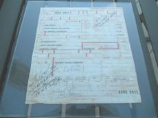Paul Newman Signed Autographed Airbill Receipt Towering Inferno Script 1974