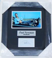 Paul Newman Signed Display Piece Framed Matted Cool Hand Luke JSA Auto