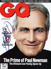 Paul Newman Signed Gq Magazine Cover Autographed Psa/dna #j00261
