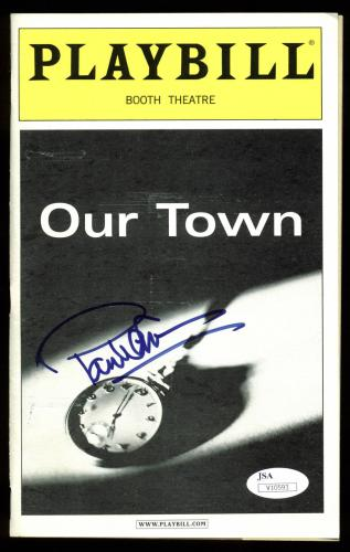 Paul Newman Signed Our Town Booth Theatre Playbill JSA #V10593