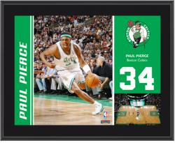 "Boston Celtics Paul Pierce 10"" x 13"" Sublimated Plaque"