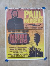 Paul Rodgers 1993 Muddy Waters tRIBUTE 1993 SIGNED X3 Poster 18x24 READ #1