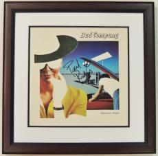 Paul Rodgers Signed - Autographed BAD COMPANY LP Record Album Cover MAHOGANY CUSTOM FRAME