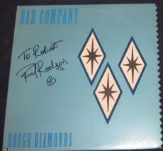 Paul Rodgers Bad Company Rock Band Signed 1982 Rough Diamonds Album Autographed