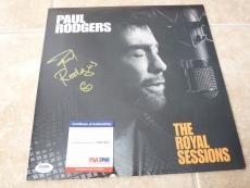 Paul Rodgers Bad Company Royal Sessions Solo Signed Autographed LP PSA Certified