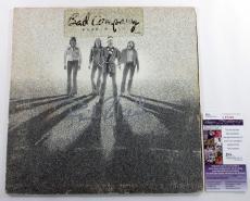 Paul Rodgers Signed LP Record Album Bad Company Burnin' Sky w/ JSA AUTO
