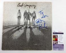 Paul Rodgers & Simon Kirke Signed Album Bad Company Burnin' Sky w/ 2 JSA AUTOS