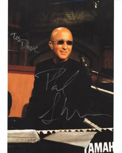 PAUL SHAFFER HAND SIGNED 8x10 COLOR PHOTO+COA      LETTERMAN BAND     TO DAVE