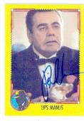 Paul Sorvino autographed card Topps Dick Tracy #7 (ip)