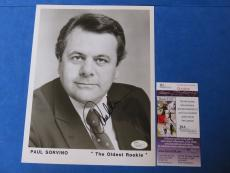 PAUL SORVINO SIGNED 8x10 PROMO PHOTO ~ JSA CERT Q22825 ~ PAULIE IN GOODFELLAS ~