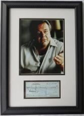 Paul Sorvino Signed Goodfellas Autographed Framed Check w/ 8x10 Photo (PSA/DNA)