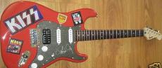 Paul Stanley autographed signed auto KISS Fender Bullet red electric guitar MINT