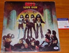PAUL STANLEY KISS Love Gun vinyl LP record album signed autographed PSA DNA 1977