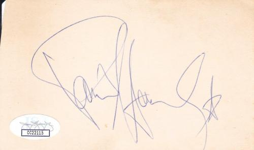 PAUL STANLEY Signed 3X5 Index Card Singer From Kiss JSA CC22115