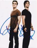 Paul Wesley Ian Somerhalder The Vampire Diaries Signed 8x10 Photo Autograph B
