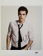Paul Wesley Signed 8x10 Photo Autograph The Vampire Diaries Psa/dna Coa