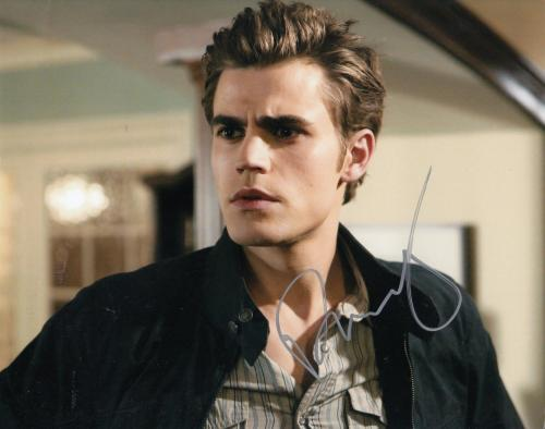 PAUL WESLEY signed *THE VAMPIRE DIARIES* 8X10 photo W/COA Stefan Salvatore #3