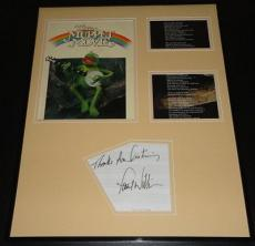 Paul Williams Autographed Photo - Framed 16x20 Muppet Movie Rainbow Connection Lyrics Display