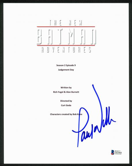 Paul Williams Signed The New Batman Adventures TV Script Cover BAS #E85468
