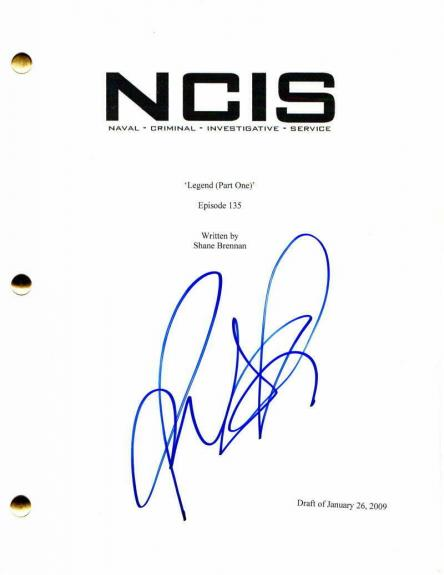 Pauley Perrette Signed Autograph - Ncis Full Episode Script - Abby Sciuto, Hot