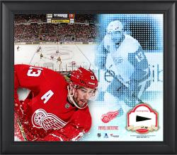Pavel Datsyuk Detroit Red Wings Framed 15'' x 17'' Mosaic Collage with Piece Of Game-Used Puck-Limited Edition of 99