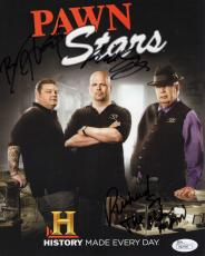 PAWN STARS HAND SIGNED 8x10 COLOR PHOTO      SIGNED BY THREE     AWESOME     JSA