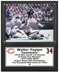 "Walter Payton Chicago Bears Sublimated 12"" x 15"" Player Plaque - Mounted Memories"