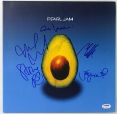 Pearl Jam (5) Eddie Vedder Signed 'Avocado' Album Cover W/ Vinyl PSA/DNA #V10649