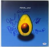 Pearl Jam (5) Eddie Vedder Signed 'Avocado' Album Cover W/ Vinyl PSA/DNA #V10649