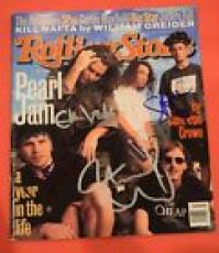 Pearl Jam Band Signed Autographed Rolling Stone Magazine x4 Eddie Vedder