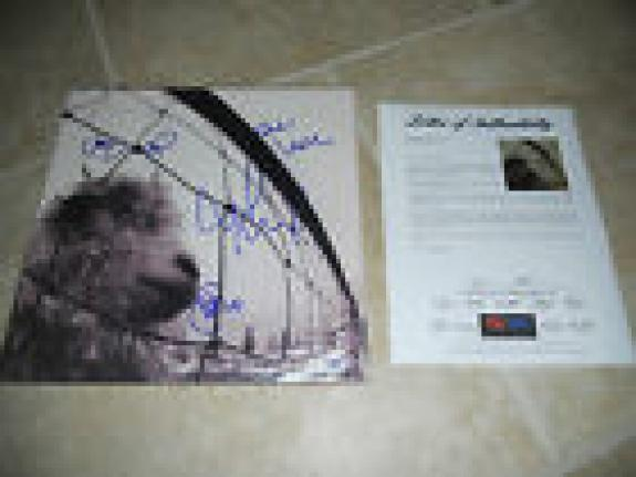 Pearl Jam Band Signed VS LP Album x 4 Eddie Vedder, Missing Dave PSA Certified