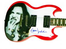 Pearl Jam Eddie Vedder Autographed Airbrushed SG Style Guitar AFTAL