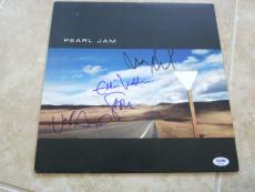 Pearl Jam Eddie Vedder Mike Stone Jeff Yield Signed Autographed LP PSA Certified