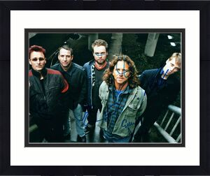 Pearl Jam Eddie Vedder Plus Full Band Autographed Signed Photo AFTAL UACC RD