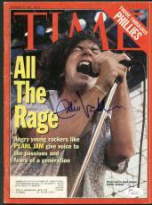 Pearl Jam Eddie Vedder Signed Autographed TIME Magazine JSA Authentic