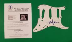 Pearl Jam Eddie Vedder Signed Strat Guitar Pickguard With Beckett Bas Coa Loa