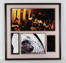Pearl Jam- Signed Eddie Vedder 28×28 Display Handwritten Note from Vedder- JSA