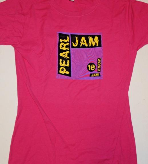 PEARL JAM THE HOME SHOWS SHORT SLEEVE SHIRT Large World Tour Pink Ladies 2018