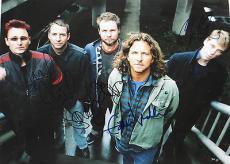 PEARL JAM w/ Eddie Vedder Stone Gossard + Group SIGNED 11x14 BIG PHOTO + PSA DNA