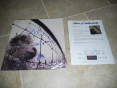 Pearl Jam X4 VS Eddie Vedder Mike Stone Jeff Signed Autographed LP PSA Certified