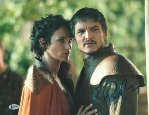 Pedro Pascal Signed 11x14 Photo Game Of Thrones Beckett Bas Autograph Auto B