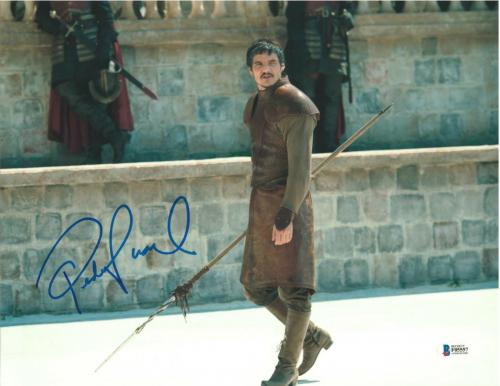 Pedro Pascal Signed 11x14 Photo Game Of Thrones Beckett Bas Autograph Auto D