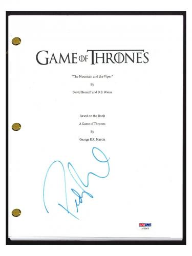 Pedro Pascal Signed Game of Thrones The Mountain and The Viper Script PSA COA
