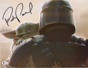 "Pedro Pascal Star Wars Autographed 11"" x 14"" The Mandalorian Holding Baby Yoda Photograph"