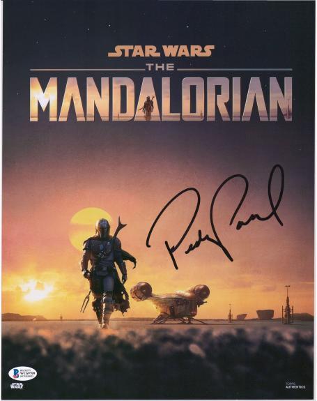 "Pedro Pascal Star Wars Autographed 11"" x 14"" The Mandalorian Walking Photograph"