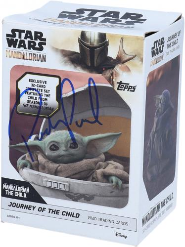 Pedro Pascal Star Wars The Mandalorian Autographed Journey of the Child Blaster Card Pack