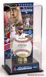 Dustin Pedroia Boston Red Sox 2013 MLB World Series Champions Gold Glove with Image Display Case - Mounted Memories