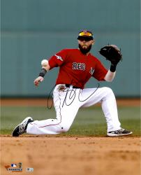 "Dustin Pedroia Boston Red Sox Autographed 16"" x 20"" One Knee Photograph"